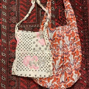 Two Free People Reusable Tote Bags